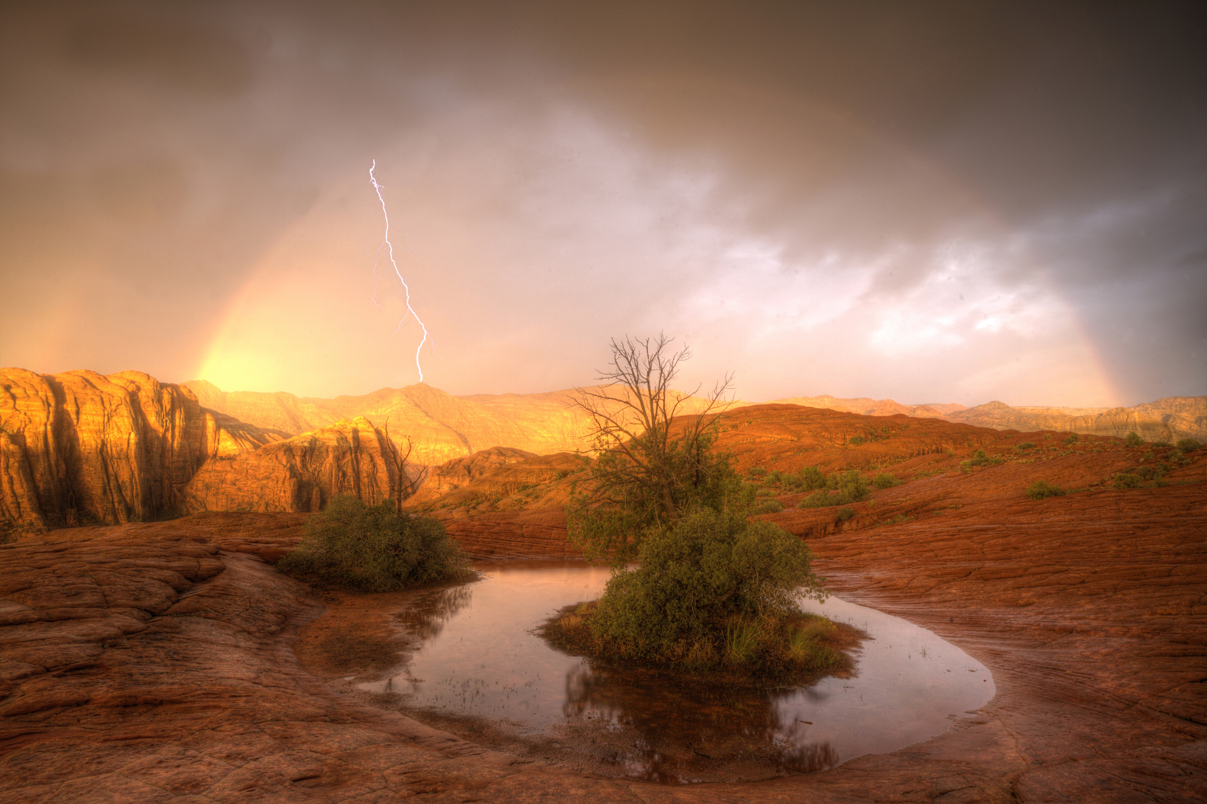 """This photograph titled """"Snow Canyon Glory"""" photograph earned photographer R.J. Hooper a place among nine finalists in Emerging Pro Photo Competition; taken at Snow Canyon State Park, Ivins, Utah, September 2014 