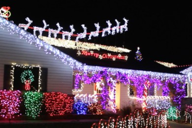 Photo of a festive home in St. George, 84790, Dec. 9, 2014 | Photo by Devan Chavez, St. George News