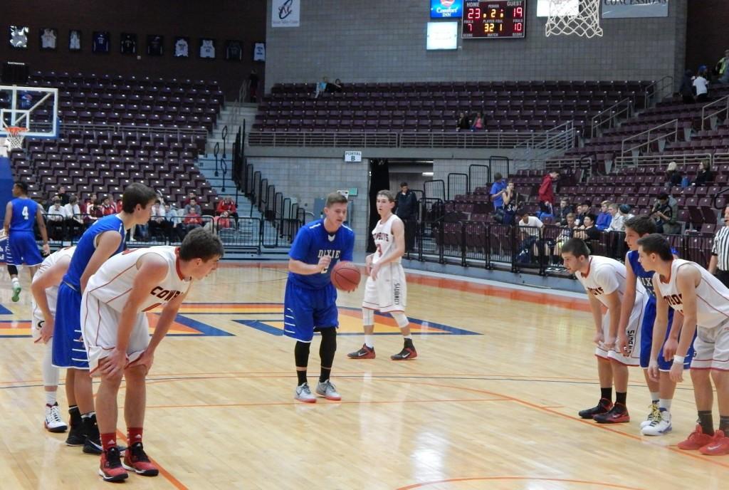 Izaic Blazzard, Dixie vs, Grantsville, 3A Preview, Richfield, Utah, Dec. 6, 2014 | Photo by Andy Griffin, St. George News