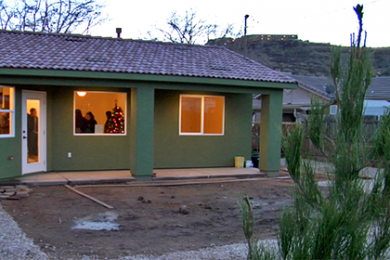 Patty Christensen's new home, filled with friends and family, Dec. 18, 2014 | Photo by Leanna Bergeron, St. George News