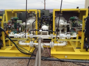 St. George startup, Helidyne, gives a demonstration of their planetary rotor expander units at their new test stand located at the Red Rock Power Generating facility, St. George, Utah, Dec. 11, 2014   Photo by Hollie Reina, St. George News
