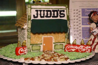Photo of the 2014 Gingerbread Tour winner, Judd's Store, at 62 W. Tabernacle St, St George, Dec. 12 2014 | Photo by Leanna Bergeron, St. George News