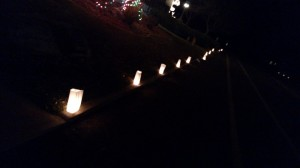 Luminaries placed throughout W. Bloomington Drive S. and adjacent streets  in the Bloomington neighborhood of St. George, Utah, Dec. 24, 2014 | Photo by Mori Kessler, St. George News