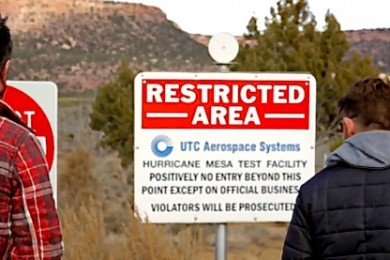 "L-R: ""No Filter Show"" Co-hosts Paul Ford, Grady Sinclair, at the base of Hurricane Mesa, Hurricane, Utah, December 2014 