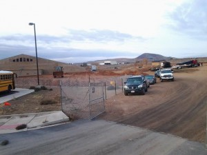 Construction has begun on the Liahona Academy north of Hurricane Middle School, Hurricane, Utah, December 5, 2014 | Reuben Wadsworth, St. George News