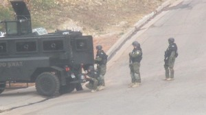 SWAT team posted at the scene, St. George, Utah, Dec. 2, 2014 | Photo by Mori Kessler, St. George News.