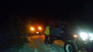 Washington County Search and Rescue respond to a truck stuck in snow in the Motoqua area, Utah, Jan. 3, 2015 | Photo courtesy of Mike Thomas, St. George News