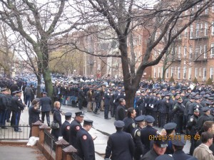 Thousands of police officers from across the U.S. attended the memorial service for fallen NYPD Officer Wenjian Liu, New York City, Jan. 4, 2015 | Photo courtesy of Cedar City Police Department, St. George News