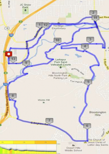St. George Half Marathon map, Jan. 17, 2015 | Photo by Holly Coombs, St. George News