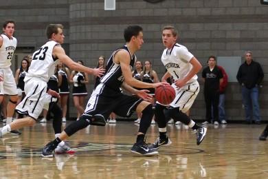 Desert Hills vs. Pine View, Boys Basketball, St. George, Utah, Jan. 9, 2015 | Photo by Robert Hoppie, ASPpix.com, St. George News