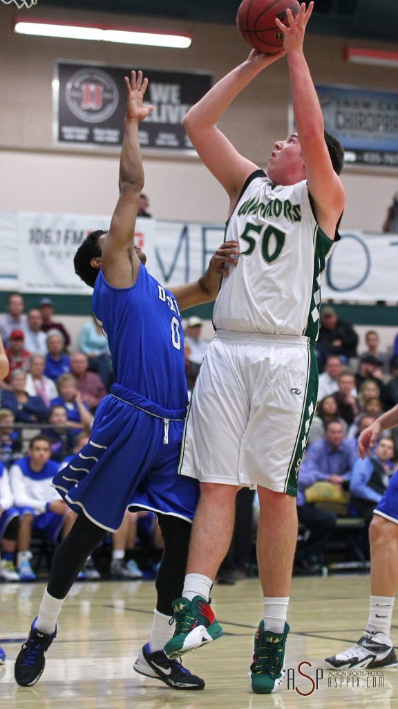 Justin Loveless (50) had 16 points to lead the Warriors Friday night, file photo from Dixie vs. Snow Canyon, Boys Basketball, St. George, Utah, Jan. 16, 2015 | Photo by Robert Hoppie, ASPpix.com, St. George News