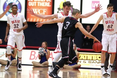 Dixie State University vs. Azusa Pacific University, Mens Basketball,  St. George, Utah, Jan. 17, 2015 | Photo by Robert Hoppie, ASPpix.com, St. George News