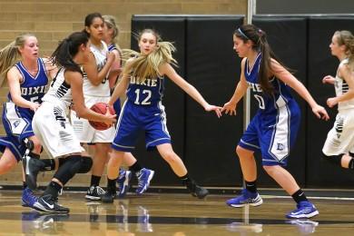 Dixie vs. Pine View, Girls Basketball, St. George, Utah, Jan. 29, 2015 | Photo by Robert Hoppie, ASPpix.com, St. George News