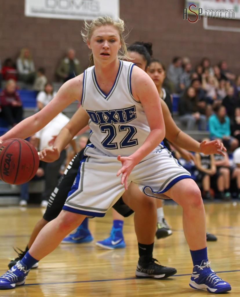 Alexa Estridge, Dixie vs. Pine View, Girls Basketball, St. George, Utah, Jan. 6, 2015 | Photo by Robert Hoppie, ASPpix.com, St. George News