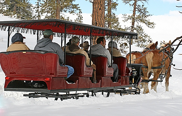 Winter activities are plenty at Bryce Canyon, Utah, circa January 2015 | Photo courtesy of Ruby's Inn, St. George News