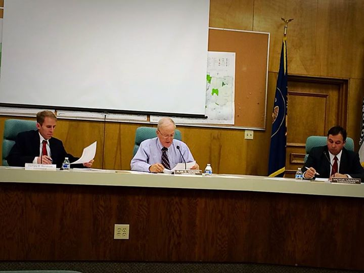 Washington County Board of Commissioners Zachary Renstrom, Alan Gardner and Victor Iverson, St. George, Utah, Jan. 6, 2015 | Photo by Kimberly Scott, St. George News