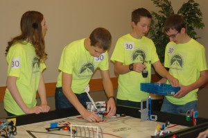 Team Paramount Programmers gets one last practice in before competing at the Lego robotics tournament, St. George, Utah, Jan. 10, 2015 | Photo by Hollie Reina, St. George News