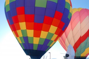 Colorful hot air balloons on display at the Mesquite Hot Air Balloon Festival, Mesquite, Nevada, Jan. 24, 2015 | Photo by Ralph Reina, St. George News