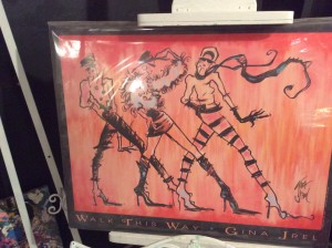 """""""Walk This Way,"""" a piece of art inspired by the song by Aerosmith was created Gina Jrel, participating artist in the """"Arts to Zion"""" tour, St. George, Utah, Jan. 15, 2015 
