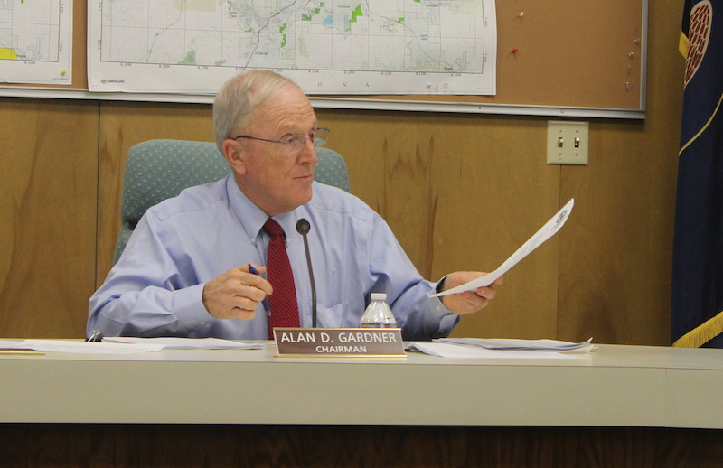 Washington County Commission Chair Alan Gardner talks about his concerns regarding the Untied States Forest Service, Washington County Administration Building, St. George, Utah, Jan. 20, 2015 | Photo by Devan Chavez, St. George News