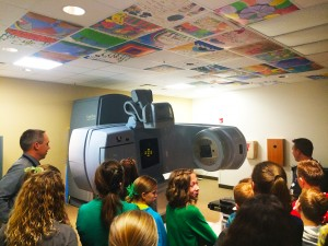 Iron Springs Elementary students tour the Cancer Center, Valley View Medical Center, Cedar City, Utah, Dec. 2, 2014 | Photo courtesy of Valley View Medical Center, St. George News