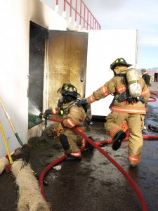 Utah fire fighters get hands-on learning at the Utah Valley University Fire and Rescue Academy's winter fire school program, St. George, Utah, circa, 2013| Photo courtesy of Lori Marshall, St. George News