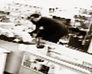 A burglar captured on security camera  at RadioShack in St. George, Utah, Dec. 31, 2014 | Photo courtesy of RadioShack, St. George News