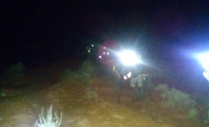 Washington County Search and Rescue volunteers aid stranded hikers on Red Mountain Trail, Ivins, Utah, Jan. 26, 2015   Photo courtesy of Washington County Search and Rescue, St. George News