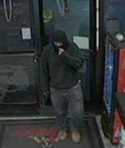 Surveillance photo of an armed robbery suspect entering the Terrible Herbst convenience store, located at 810 W. Mesquite Boulevard, Mesquite, Nevada, Jan. 25, 2015 | Photo courtesy of the Mesquite Nevada Police Department, St. George News