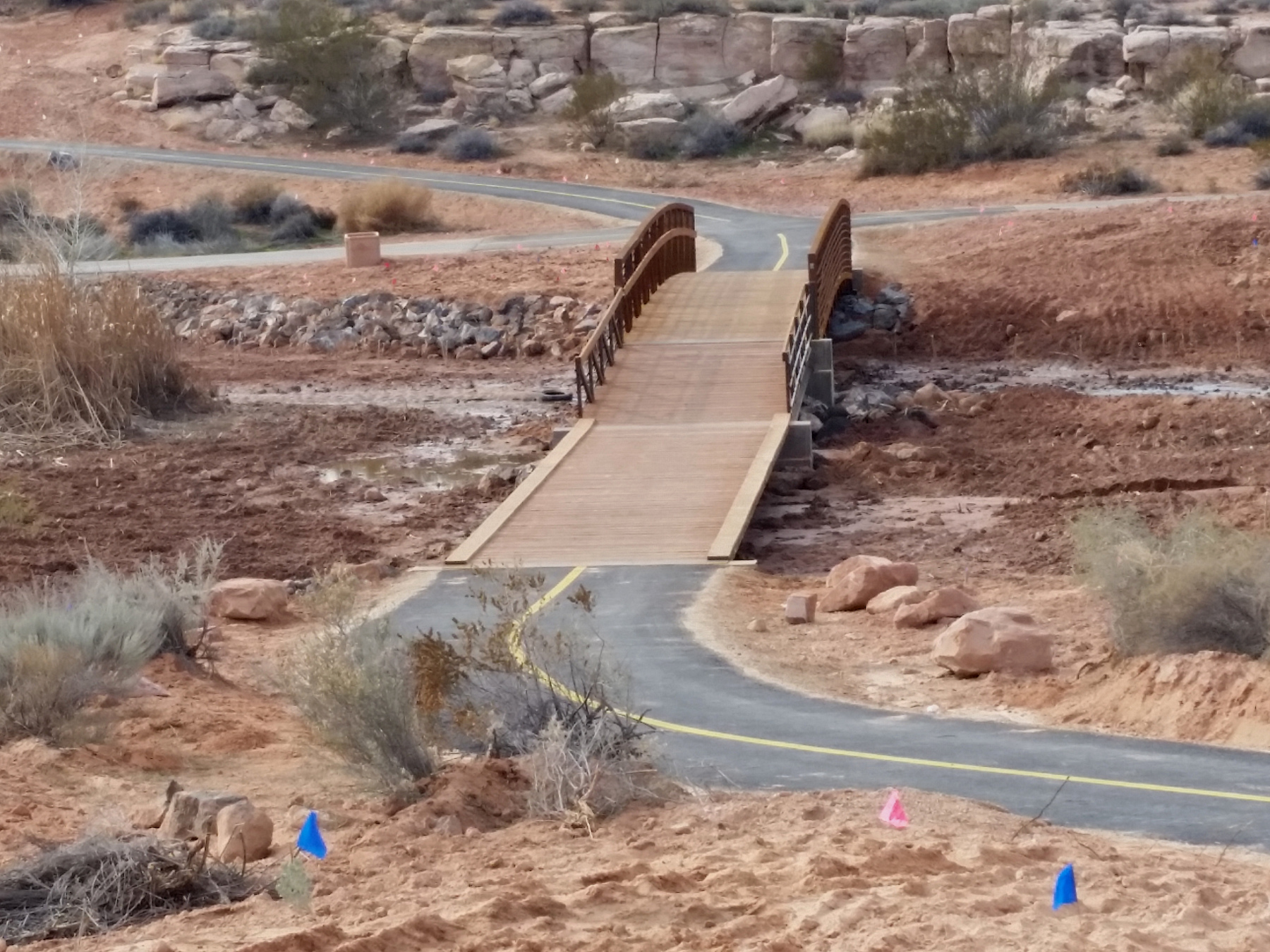 A trail in Sand Hollow Wash is part of the extensive active transportation system area residents enjoy, St. George, Utah, January 19, 2015   Photo by Julie Applegate, St. George News