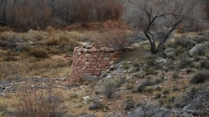 An old copper smelter upstream from the Shem Dam on the Santa Clara River, as seen from the Gunlock Road, Gunlock, Utah, Jan. 10, 2015 | Photo by Julie Applegate, St. George News