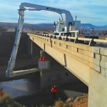 Structure inspection underway for the Virgin River Bridge on Interstate 15 between Exits 4 and 5, Brigham Road (Bloomington) and Dixie Drive, St. George, Utah, Jan. 26, 2015 | Photo by Todd Abbott, Utah Department of Transportation, St. George News