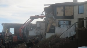 Foreclosed and condemned home on the Black Hill being torn down, St. George, Utah, Nov. 22, 2014   Photo by Mori Kessler, St. George News
