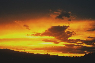 Desert sunset in Ivins, Utah, Sep. 5, 2014 | Photo by Ali Hill, St George News