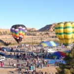 Colorful hot air balloons on display at the Mesquite Balloon Festival, Mesquite, Nevada, Jan. 24, 2015 | Photo by Ralph Reina, St. George News
