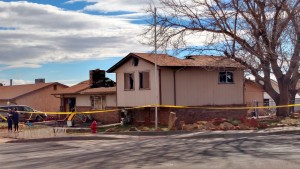 Aftermath of a house fire at 580 South and 200 East, Ivins, Utah, Jan. 30, 2015 | Photo by Mori Kessler, St. George News
