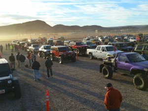 Vehicles line up Friday, January 24, 2015 for the Winter 4x4 Jamboree | Photo by Julie Applegate, St. George News
