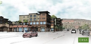 Artist's rendition of Joule Plaza as seen from Tabernacle Street | Image courtesy of Ben Rogers, CRSA, St. George News