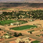 Aerial view of the Dixie Sunbowl, St. George, Utah, date not specified | St. George News