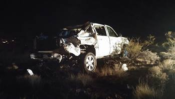 Two men were transported to the hospital following a rollover on Foremaster Drive, St. George, Utah, Jan. 13, 2014 | Photo courtesy of the St. George Police Department, St. George News