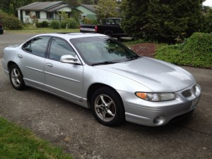 This photo is a representation of the same make and model and color vehicle as described in the story, a 2001 Silver Pontiac Grand Prix, but is not the actual vehicle in question | Photo courtesy of the Iron County Sheriff's Office, St. George News