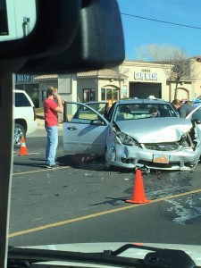 Collision on Sunset Boulevard in St. George, Utah, Jan. 24, 2015 | Photo courtesy of Jaqueline Lerner, St. George News