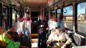 nside the new SunTran bus that took public officials, Ivins residents and members of the media on a run of the new SunTran Ivins bus route, Ivins, Utah, Jan. 21, 2015   Photo by Mori Kessler, St. George News