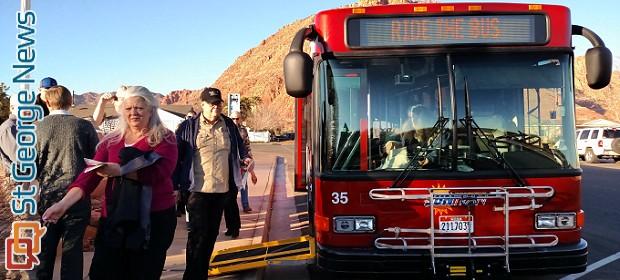 Ribbon cutting heralds start of SunTran bus service in Ivins