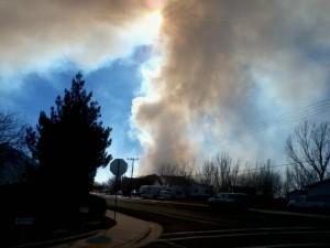 Smoke blocks visibility on 700 West near 1500 South in Hurricane, Utah, Jan. 24, 2015 | Photo courtesy of Scott Adams, St. George News