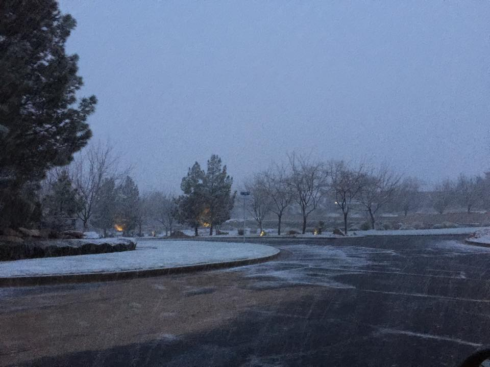Roundabout at top of Stonecliff subdivision, St. George, Utah, Feb. 23, 2015, 7:15 a.m.   Photo by Shane Brinkerhoff, St. George News