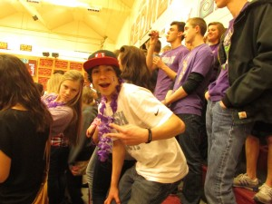 Cedar City High School Students show their show their support for raising teen dating violence awareness by wearing purple at the basketball game for last year's event, Cedar City, Utah, Feb. 5, 2014 | Photo courtesy of the Canyon Creek Women's Crisis Center, St. George News