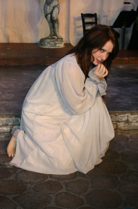 """Kylee Ogzewalla brings intensity to the role of Bertha in the Brigham's Playhouse production of """"Jane Eyre,"""" Washington, Utah, Feb. 4, 2015 