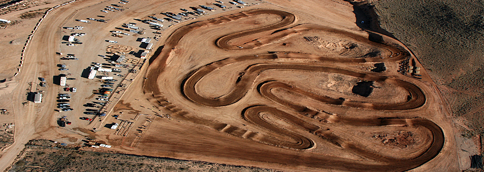 St. George Motoproving Ground offers nearly 20 acres of MX track that is dynamic and has over a mile of elevation changes, rhythm sections, whoops, and tabletops. SGMX Motoproving Ground, St. George, Utah, undated   Photo courtesy of SGMX Motoproving Ground, St. George News