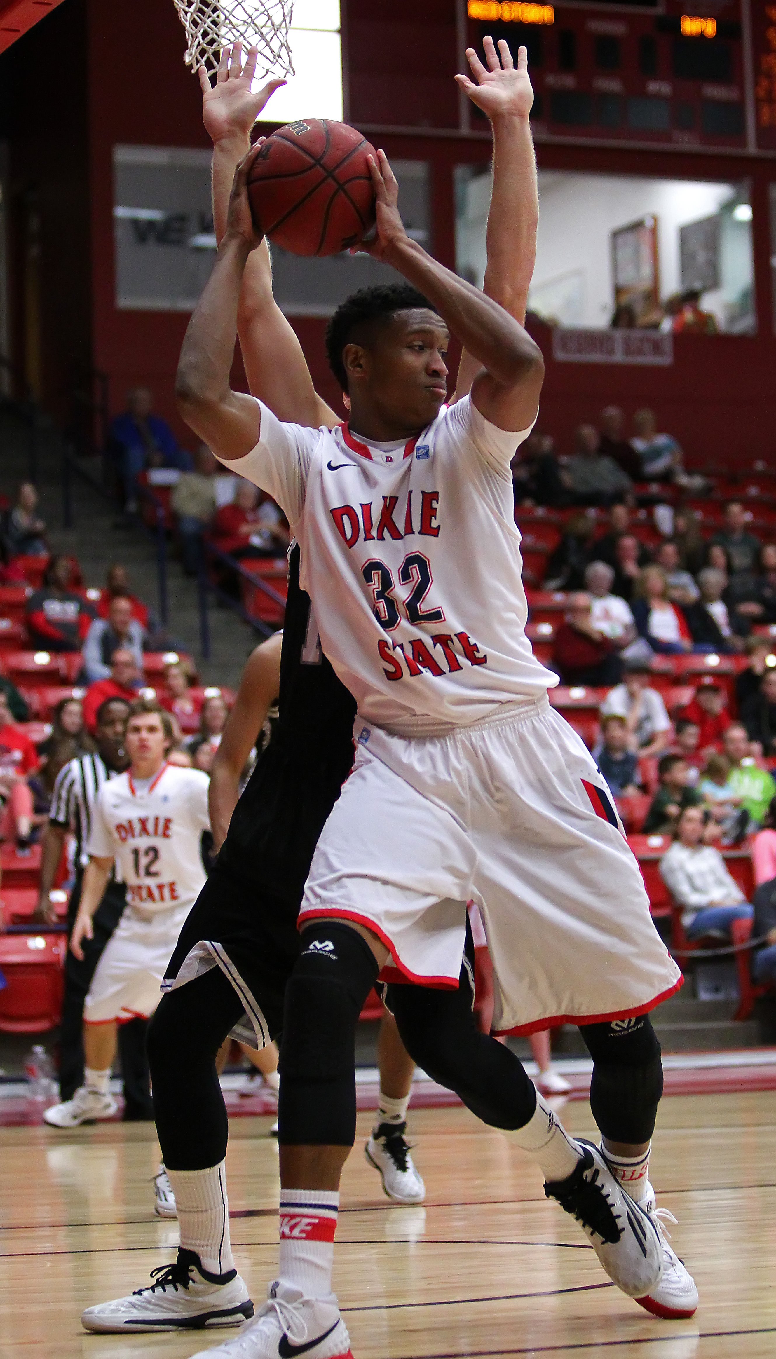 Mark Ogden (32) had a huge game Saturday. File photo from Dixie State University vs. Hawaii Pacific University, Men's Basketball, St. George,  Utah, Feb. 16, 2015 | Photo by Robert Hoppie, ASPpix.com, St. George News